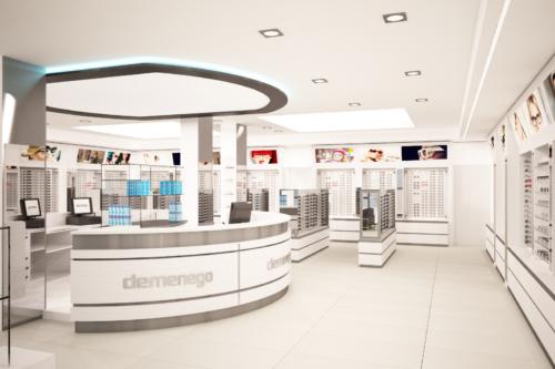 Rendering 3D di Interni - Negozio di Ottica