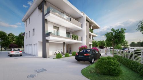 Rendering 3D di Esterni - Condominio a Nonantola(Modena)