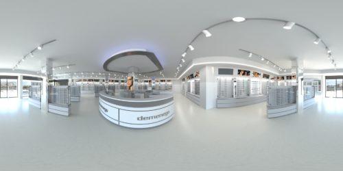 Rendering Virtual Tour 3D di Interni - Negozio di Ottica