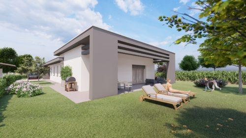 Rendering 3D di Esterni - Villa